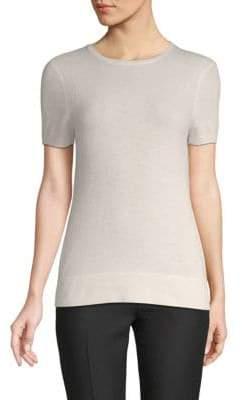 Saks Fifth Avenue Drop Shoulder Cashmere Tee