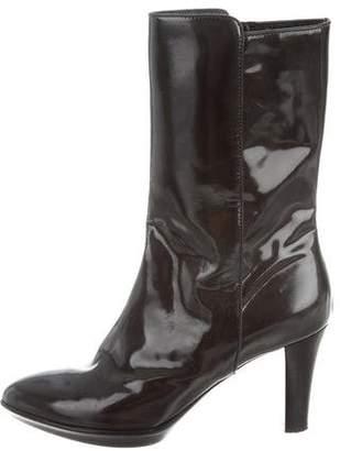 Aquatalia Patent Leather Ankle Boots