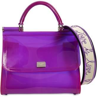 Dolce & Gabbana Sicily Faux Patent Leather Bag