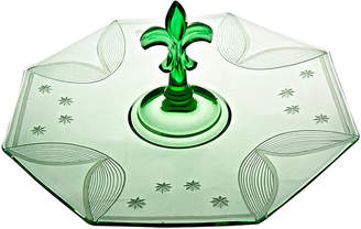One Kings Lane Vintage Emerald Glass Serving Plate - Portfolio No.6
