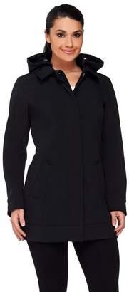 Isaac Mizrahi Live! Soft Shell Jacket w/ Hood
