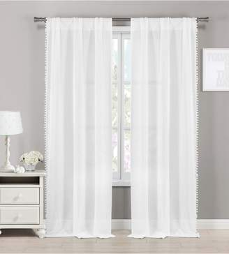 BA&SH LALA + BASH Addyson Sheer Pompom Window Panels