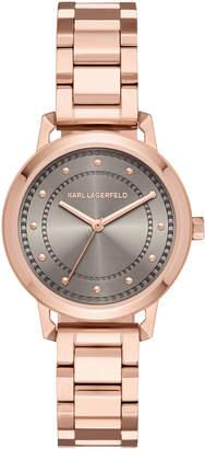 Karl Lagerfeld 34mm Vanessa Bracelet Watch, Rose Golden