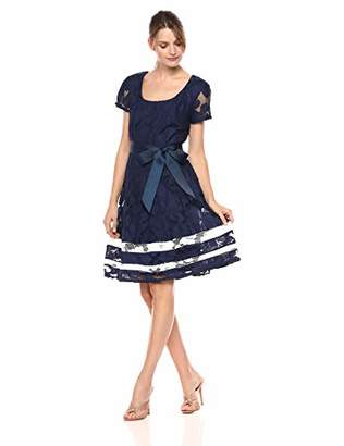 Robbie Bee Women's Short Sleeve fit and Flare Dress