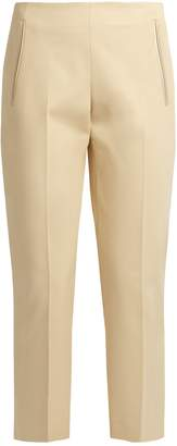 The Row Nowa stretch-cotton cropped trousers