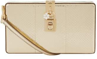 Dolce & Gabbana Small Metallic Snakeskin Box Clutch