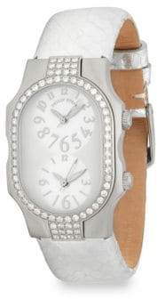 Philip Stein Teslar Signature Diamond and Leather Strap Watch
