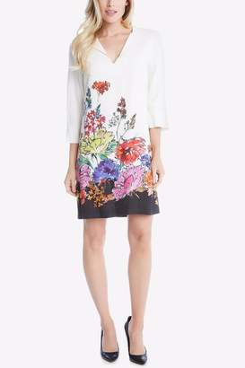 Karen Kane Floral Border Dress