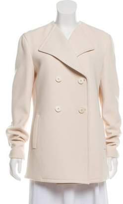 Calvin Klein Collection Collarless Double-Breasted Jacket Collarless Double-Breasted Jacket