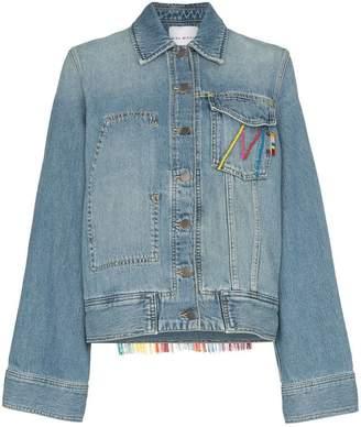 Mira Mikati oversized tasselled cotton blend denim jacket