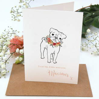 French Bull The Hummingbird Card Company Wedding Card From Your Pug Or Dog