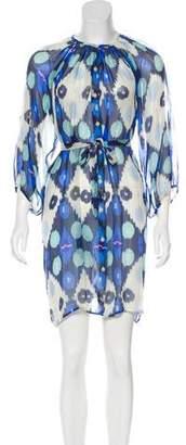 Tucker Silk Printed Dress
