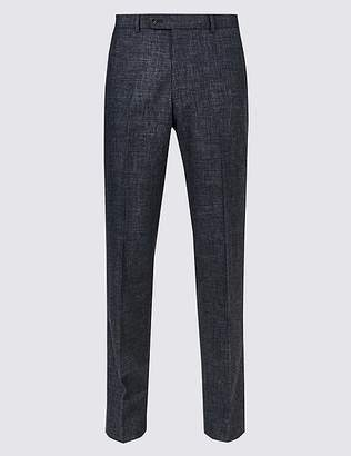 Marks and Spencer Linen Miracle Tailored Fit Trousers