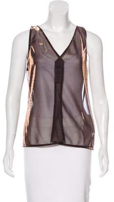 Dolce & Gabbana Sleeveless Metallic Top w/ Tags