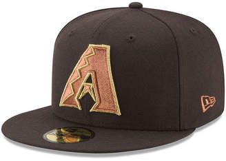 New Era Arizona Diamondbacks Brown on Metallic 59FIFTY Fitted Cap