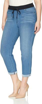 Hue Women's Plus Size Sweatshirt Denim Cuffed Capri Leggings