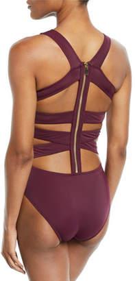 OYE Swimwear Carlotta Zip-Back Strappy One-Piece Swimsuit