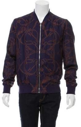 Gucci Silk Horse Print Jacket