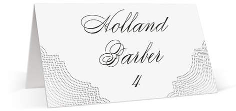 Splendorous Foil-Pressed Place Cards