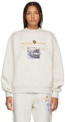 Alexander Wang White Platinum Car Sweatshirt