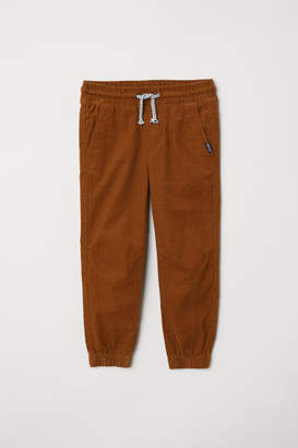 H&M Cotton Pull-on Pants - Yellow