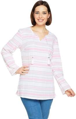 Denim & Co. Beach Long Sleeve Gauze Tunic