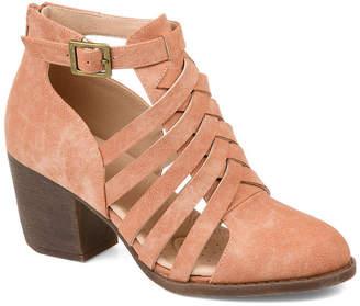 Journee Collection Womens Jc Isadore Booties Block Heel Zip