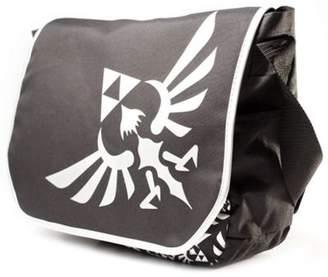 Bioworld Zelda Polyester Messenger Bag With Embroider Link Logo, Black/white (Mb00Gtntn) - Accessories
