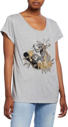 Zadig & Voltaire Meryl Cannetille Skeleton Beaded T-Shirt