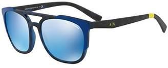 Armani Exchange Men's 0ax4076sf 0AX4076SF Non-polarized Iridium Rectangular Sunglasses