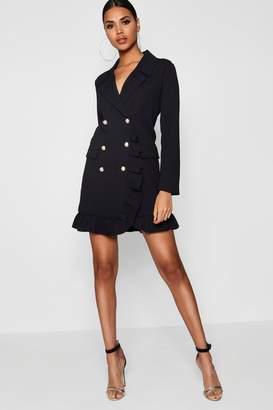 boohoo Kate Ruffle Double Breasted Blazer Dress