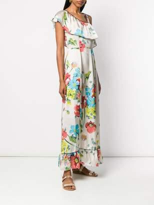 Semi-Couture Semicouture asymmetric floral print dress