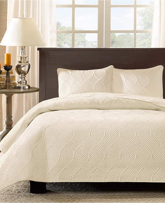 Madison Park Corrine 3-Pc. Quilted Full/Queen Coverlet Set Bedding
