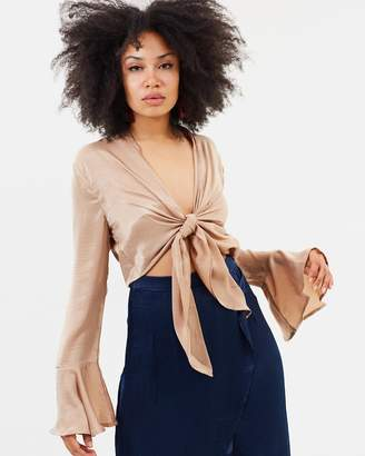 Missguided Flute Sleeve Blouse