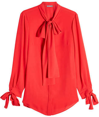 Alexander McQueen Silk Blouse with Bow Detail