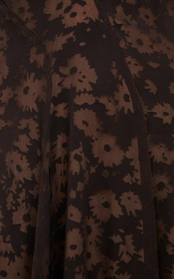 Stella McCartney Daisy Devoré Slipdress