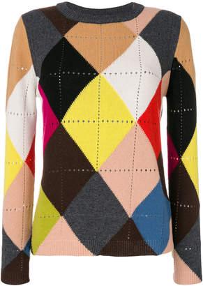 Twin-Set diamond pattern jumper