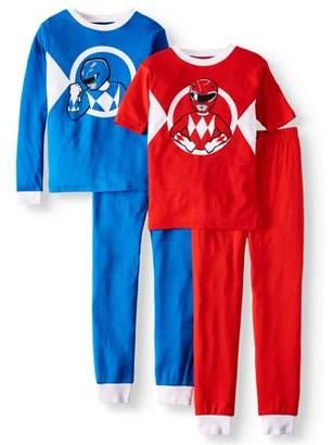 Power Rangers Boy s Cotton 4 Piece Pajama Sleep Set (Big Boys   Little ... 0ff4884f6