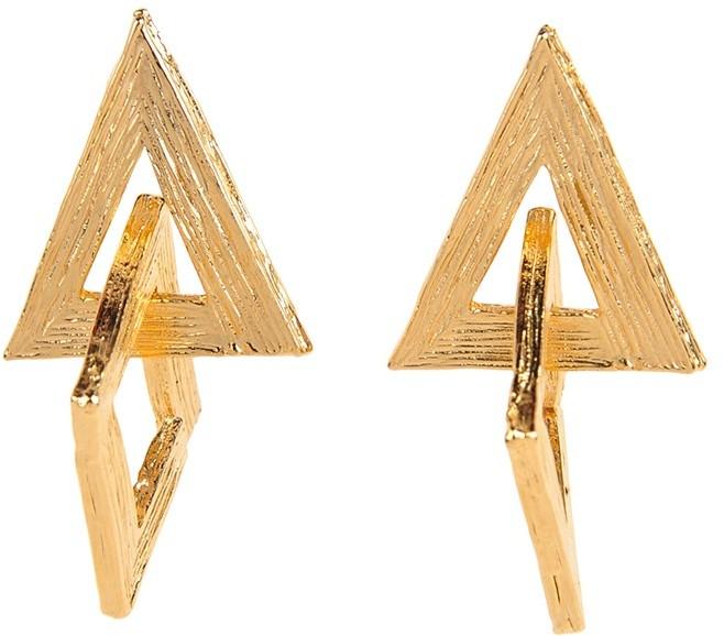 Yochi Design Yochi Interlocking Triangle Earrings