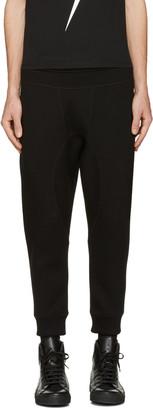 Neil Barrett Black Classic Clean Lounge Pants $400 thestylecure.com