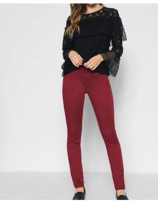 7 For All Mankind BAir Color Ankle Skinny In Oxblood