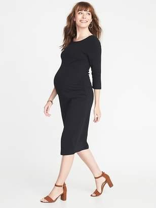 Old Navy Maternity Boat-Neck Bodycon Dress