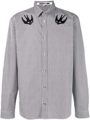 McQ Swallow badge checked shirt