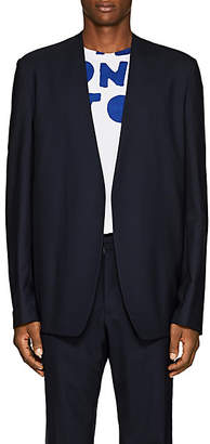 Maison Margiela Men's Virgin Wool Open-Front Sportcoat - Dk. Blue