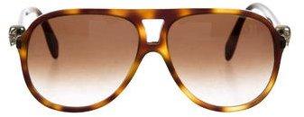 Alexander McQueenAlexander McQueen Tortoiseshell Aviator Sunglasses