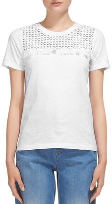 Whistles Broderie-Inset Tasseled Tee $139 thestylecure.com
