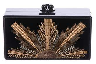 Edie Parker Jean Bead Embellished Box Clutch