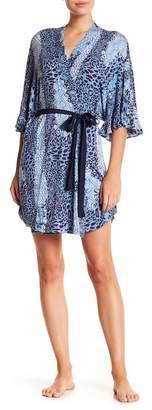 Josie Ruffle Trim Print Robe