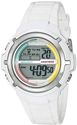 Armitron Sport Women's 45/7045RNB Multi-Color Accented Resin Strap Watch