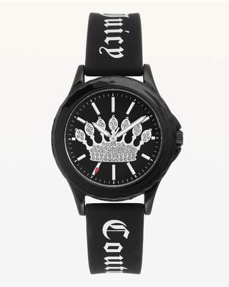 Juicy Couture Crown Black Silicone Watch